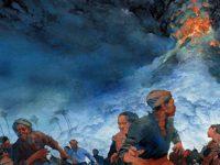 Ilustrasi Ledakan Gunung Tambora