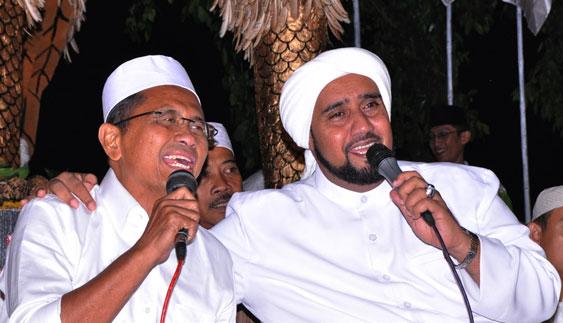 Foto Habib Syech dan Dahlan Iskan