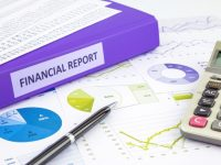 Financial report and graph analysis for budget management