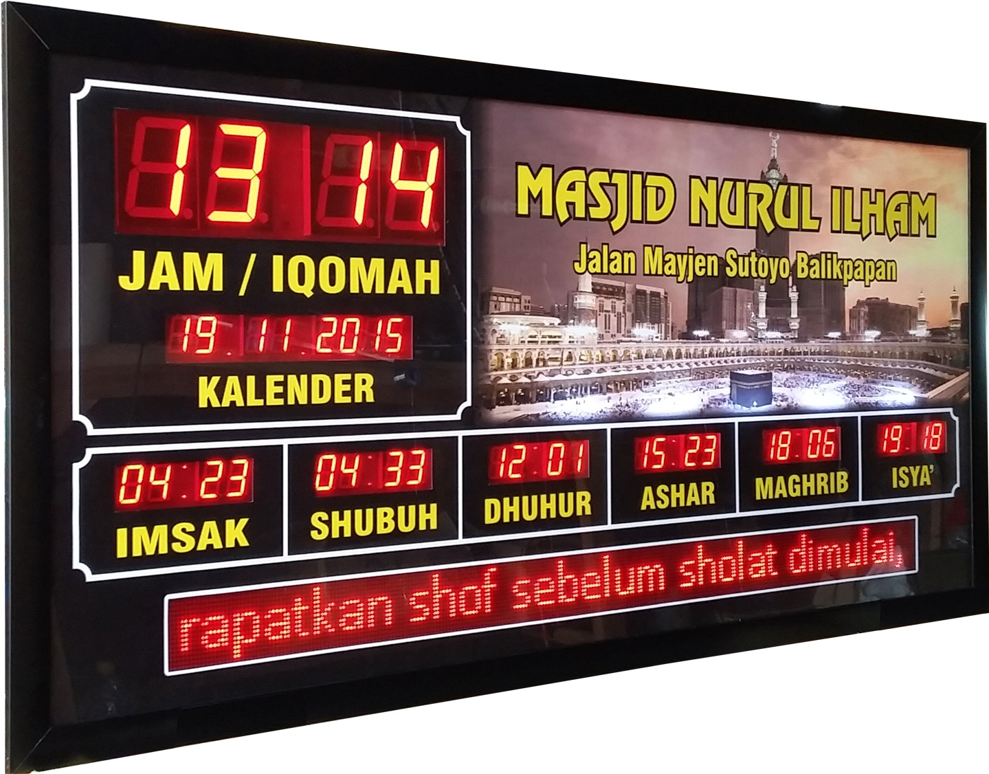 Cara Setting Jam Digital Masjid
